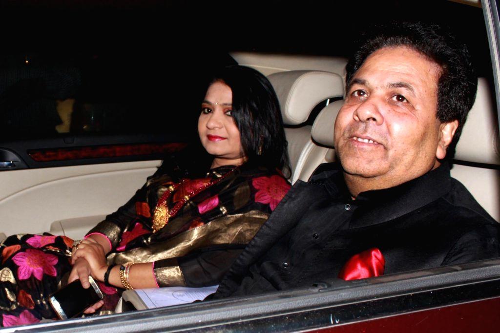 IPL chairman Rajiv Shukla arrives to attend the wedding reception of cricketer Harbhajan Singh and actress Geeta Basra in New Delhi, on Nov 1, 2015.