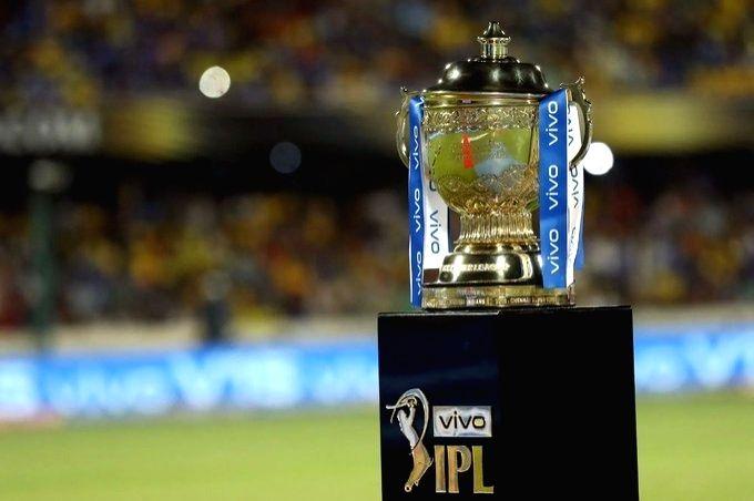 IPL trophy.(pic:twitter IPL).