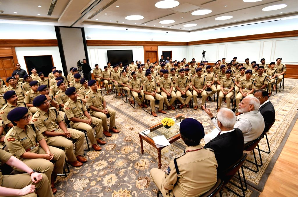 IPS Probationers of 2018 batch meet Prime Minister Narendra Modi in New Delhi on Oct 9, 2019. - Narendra Modi