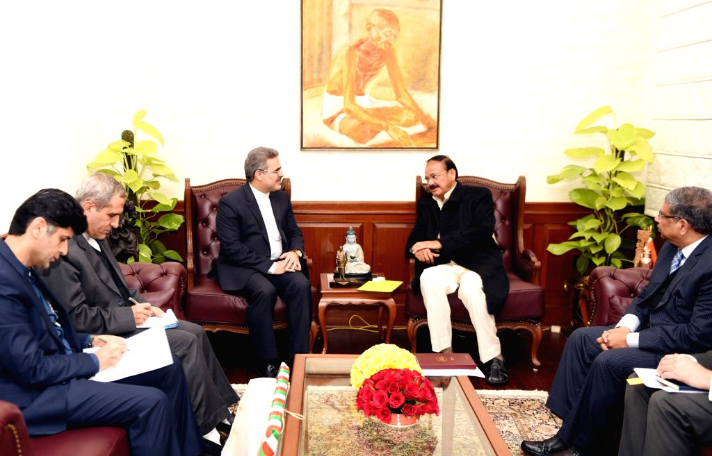 Iran Ambassador to India Ali Chegeni calls on Vice President M. Venkaiah Naidu in New Delhi, on Feb 18, 2019. - M. Venkaiah Naidu