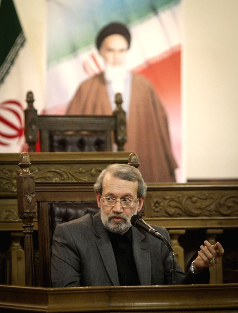 Iran's Majlis (parliament) Speaker Ali Larijani speaks during a press conference in Tehran, capital of Iran, on Dec 1, 2015. - Ali Larijani