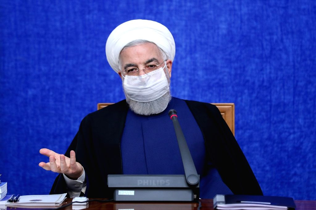 Iranian President Hassan Rouhani speaks during a Government Economic Staff meeting. Top diplomats from Iran, Russia, China, France, Britain and Germany will meet in Vienna Tuesday to try to save the 2015 nuclear deal. (Photo: Iranian Presidency/dpa/I - Hassan Rouhani