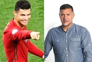 Irans Daei pays tribute to Ronaldo after he equals his 109-goal world record.