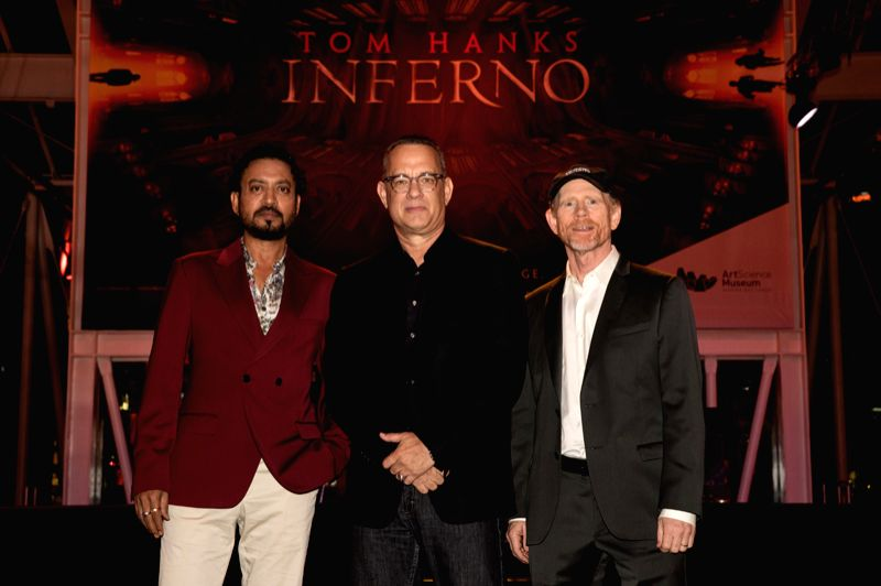 Irrfan Khan with Tom Hanks and Ron Howard - Irrfan Khan