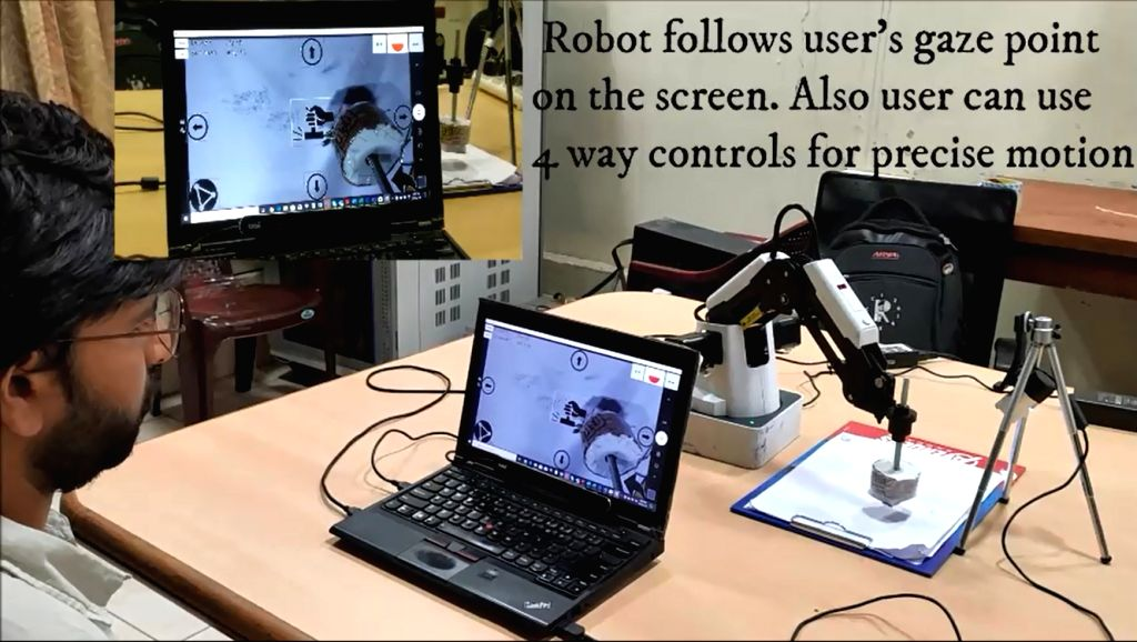 ISc team designs robo to help disabled operate devices.