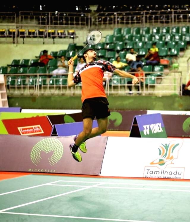 Ishaan Bhatnagar in action during Badminton Asia Junior Championships 2019 at the Suzhou Olympic Sports Centre in China on July 25, 2019.