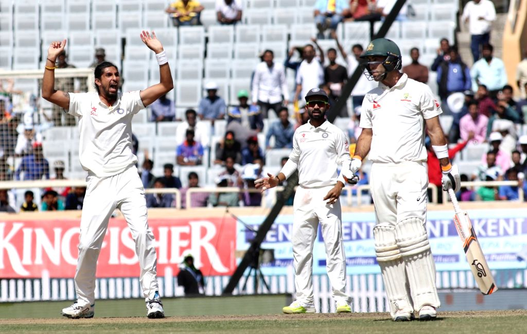 Ishant Sharma of India appeals for a out during the first day of the third cricket test match between India and Australia at the Jharkhand State Cricket Association (JSCA) Stadium complex in ... - Ishant Sharma