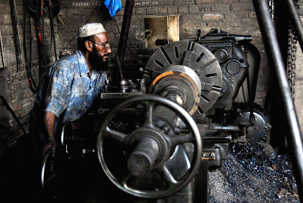 ISLAMABAD, May 1, 2017 - A Pakistani laborer works at an iron factory on the International Workers' Day in Islamabad, capital of Pakistan, on May 1, 2017.