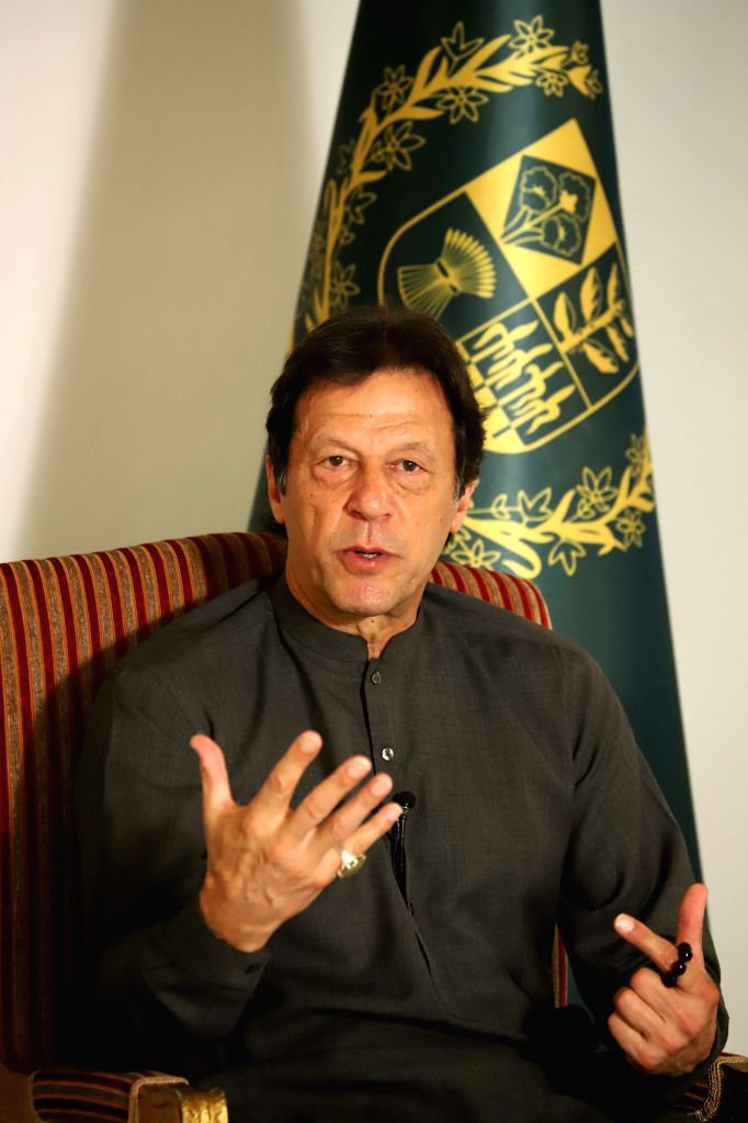 ISLAMABAD, Nov. 1, 2018 - Pakistani Prime Minister Imran Khan speaks during an interview with Chinese media in Islamabad, Pakistan, on Oct. 31, 2018. Pakistani Prime Minister Imran Khan said here ... - Imran Khan