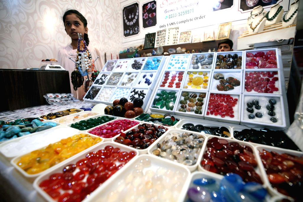 ISLAMABAD, Sept. 15, 2018 - A variety of precious stones are seen during the gems and jewellery exhibition in Islamabad, capital of Pakistan, on Sept. 14, 2018. The three-day gems and jewellery ...