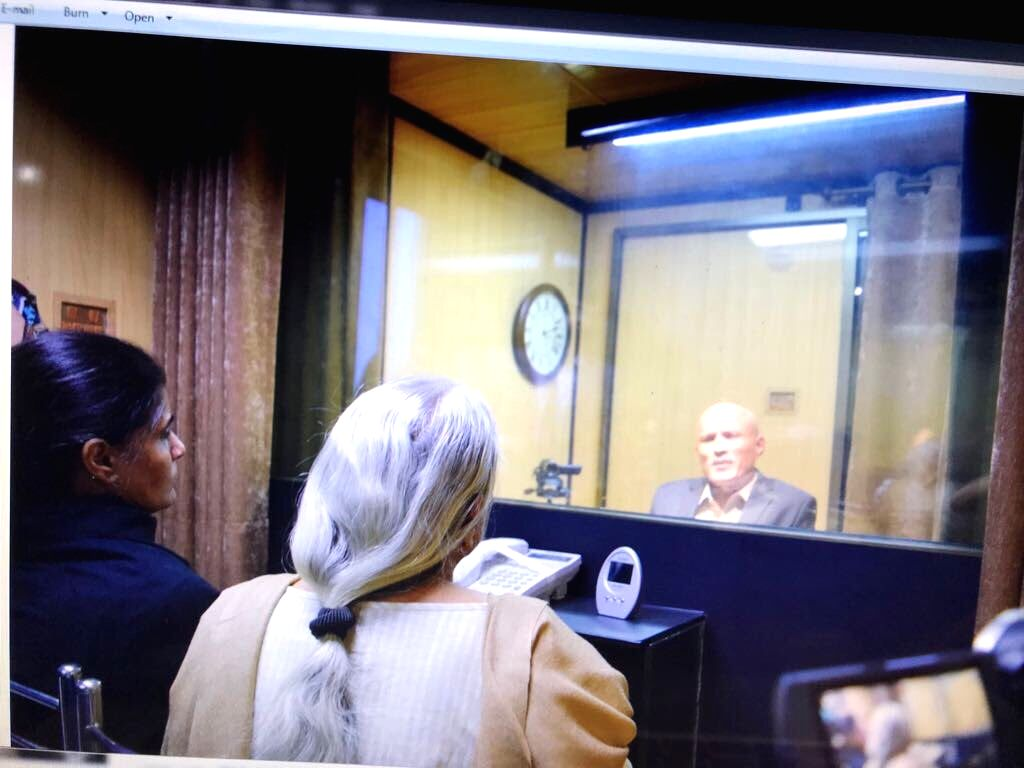 Islamabad: The mother and wife of Mumbai-based former naval officer-turned-businessman Kulbhushan Jadhav, who was arrested on March 3, 2016, and was sentenced to death by a Pakistani military court on charges of espionage and terrorism meet him at th