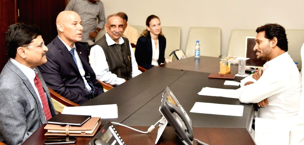 Israeli Ambassador to India Ron Malla, First Secretary (Political) Noa Hakim and Indo Israel Chamber of Commerce and Industry Former President Udai Ken Sagar meet Andhra Pradesh Chief ... - Y.