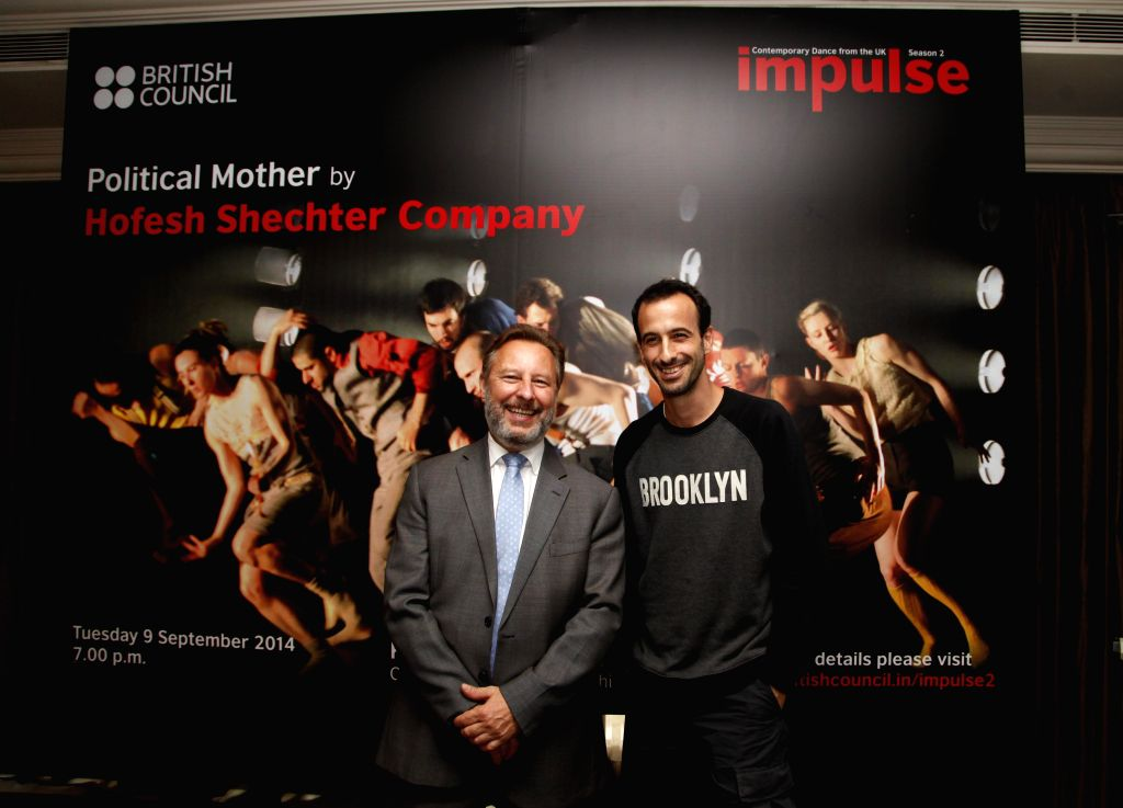 Israeli-born choreographer Hofesh Shechter during a press conference in New Delhi  on Sept 8, 2014.