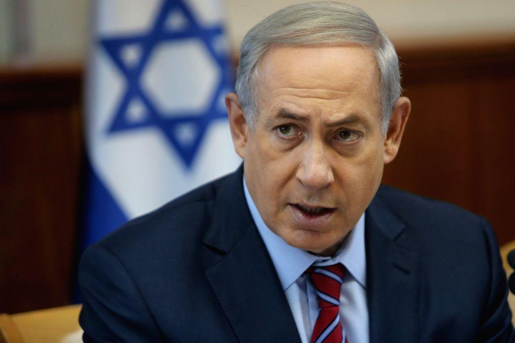 Israeli Prime Minister Benjamin Netanyahu addresses the weekly cabinet meeting at his office in Jerusalem, on Oct. 25, 2015. Israeli Prime Minister Benjamin ... - Benjamin Netanyahu