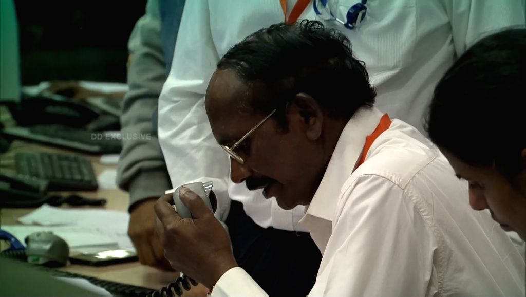 ISRO Chairman K. Sivan announces that the communication link with Vikram lander that was descending towards the Moon's South Pole was lost, at ISRO Centre in Bengaluru on Sep 7, 2019.