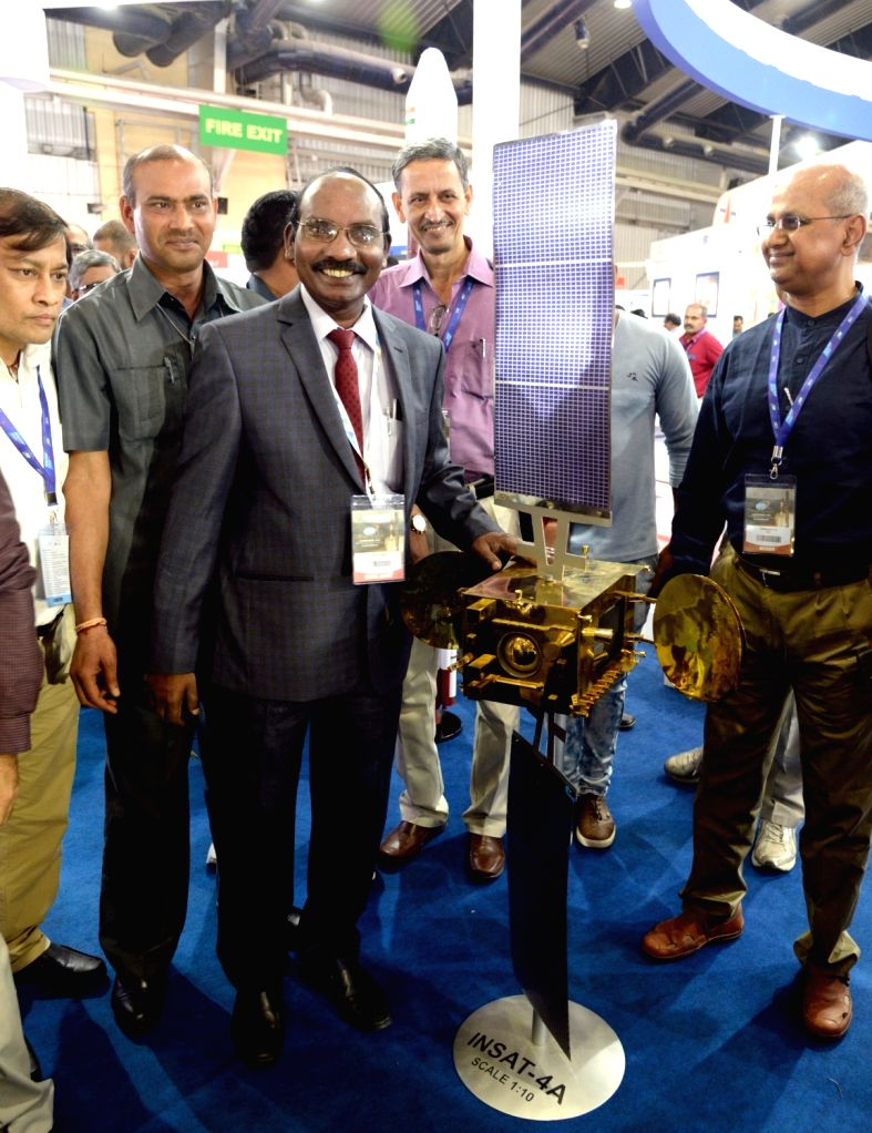 ISRO Chairman K. Sivan at the 6th Bengaluru Space Expo (BSX) 2018, in Bengaluru on Sept 6, 2018.