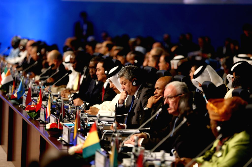 ISTANBUL, April 12, 2016 - The meeting of foreign ministers of the Organization of Islamic Cooperation (OIC) is held in Istanbul, Turkey, on April 12, 2016. Foreign ministers of the OIC pledged here ...