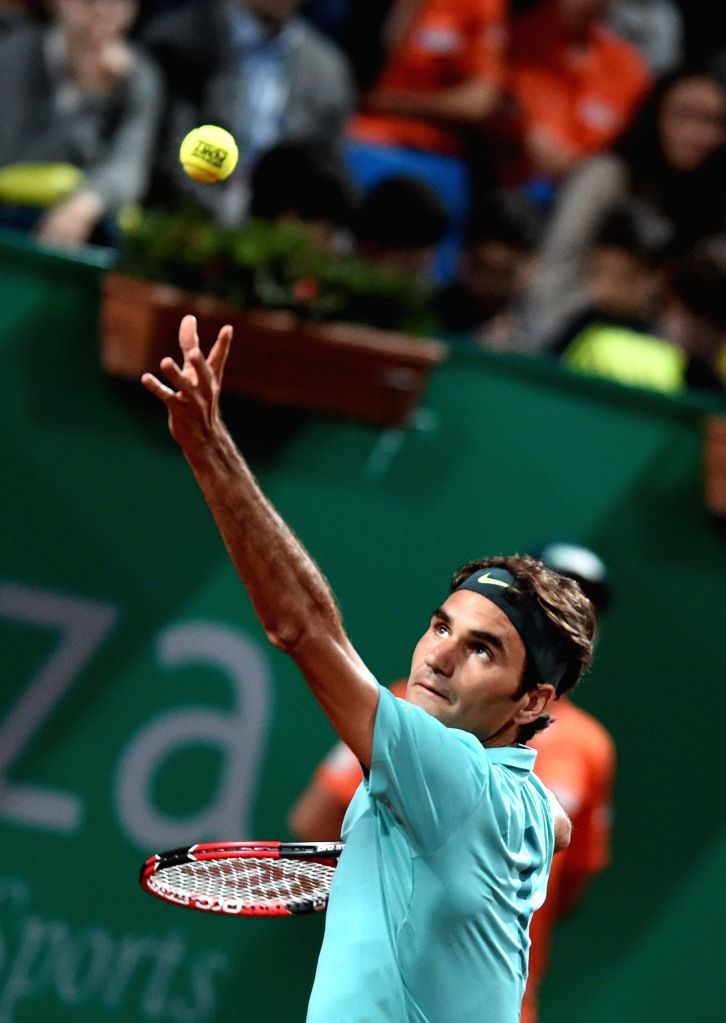 Roger Federer of Switzerland serves during his second round match against Jarkko Nieminen of Finland at ATP World Tour Istanbul Open in Istanbul, Turkey, on April ...