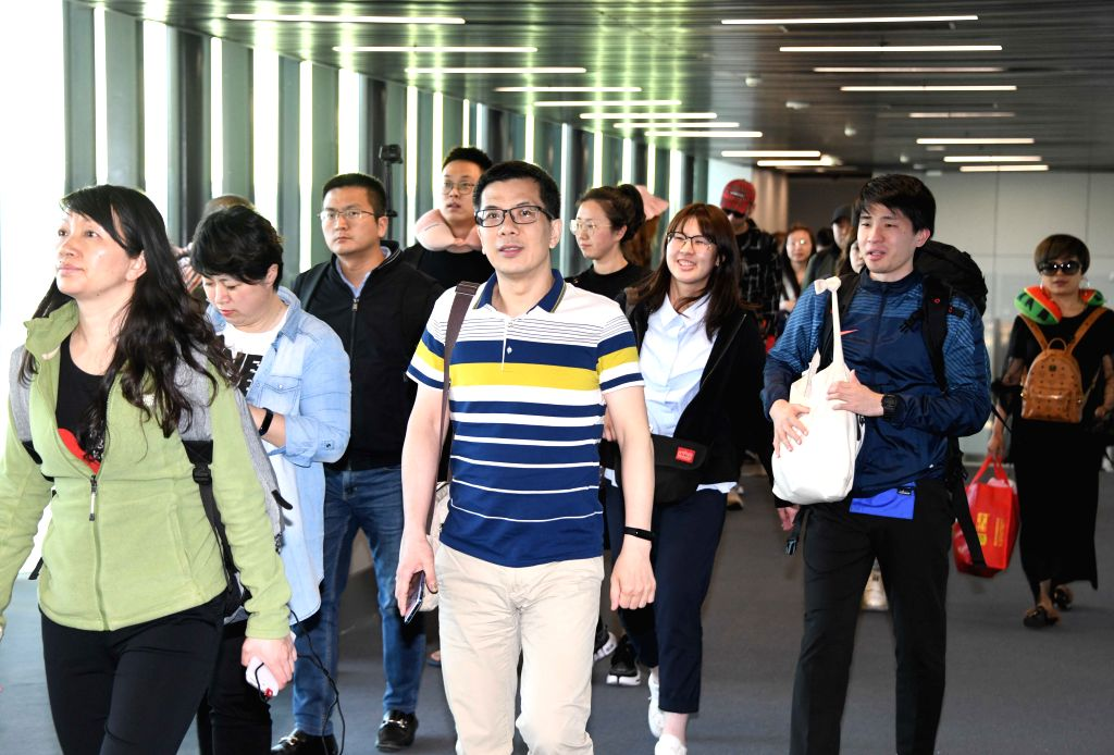 ISTANBUL, April 30, 2019 - Passengers aboard the direct flight 3U8187 from China's Chengdu to Turkey's Istanbul arrive at the Istanbul Airport in Istanbul, Turkey, April 30, 2019. The Sichuan ...