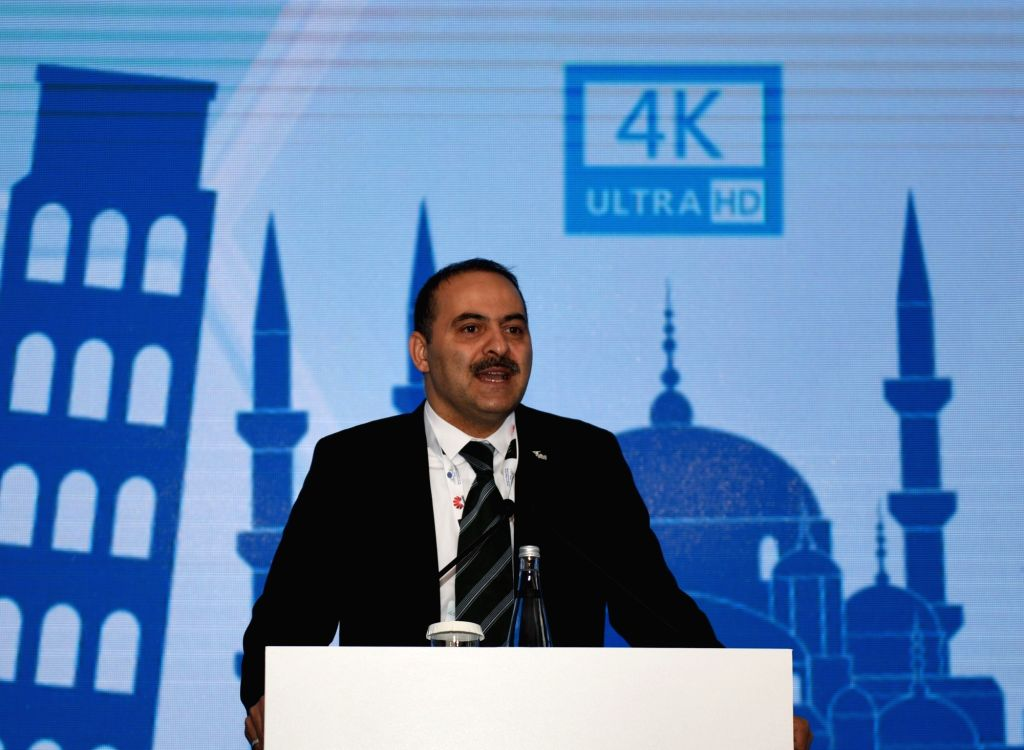 ISTANBUL, May 10, 2016 - Fatih Omer Sayan, chairman of Turkey's Information and Communication Technologies Authority(BTK), addresses a speech at Turkey 4.5G Industry Summit in Istanbul, Turkey, on ...