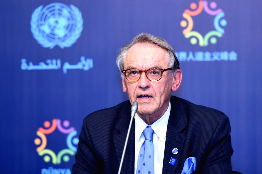 ISTANBUL, May 23, 2016 - UN Deputy Secretary-General Jan Eliasson speaks to the reporters during a World Humanitarian Summit press conference in Istanbul, Turkey on May 23, 2016. The world's ...
