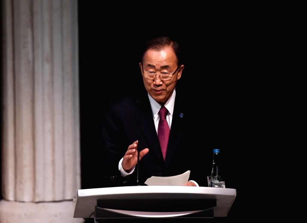 """ISTANBUL, May 23, 2016 - United Nations Secretary-General Ban Ki-moon delivers a speech at a special event of """"Launch of the Grand Bargain"""" during the World Humanitarian Summit in Istanbul, ..."""