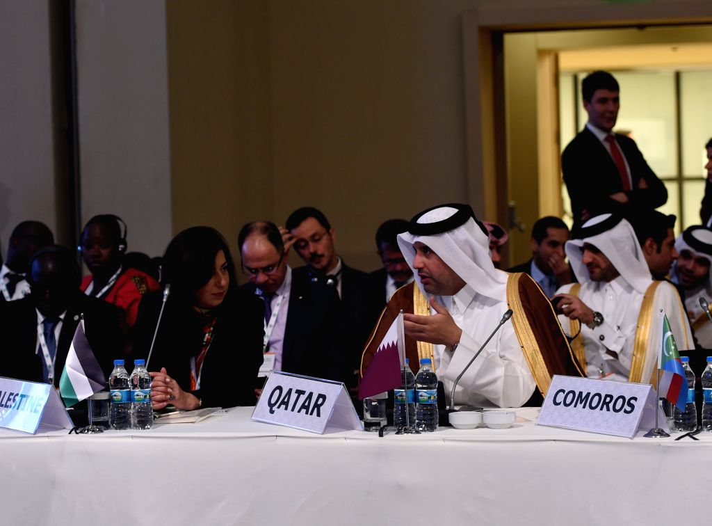 Delegates attend the meeting of the Standing Committee for Economic and Commercial Cooperation of the Organization of the Islamic Cooperation (COMCEC) in Istanbul, ...