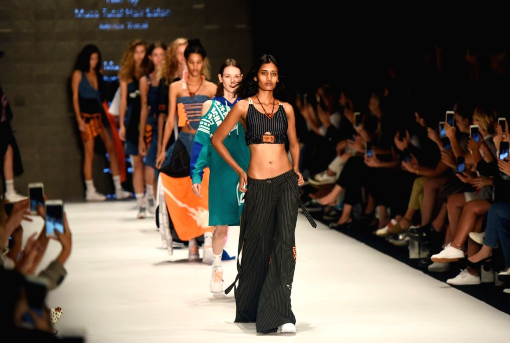ISTANBUL, Sept. 11, 2018 - Models present creations from the DB Berdan 2019 Spring/Summer collection during the Mercedes-Benz Fashion Week in Istanbul, Turkey, on Sept. 11, 2018.
