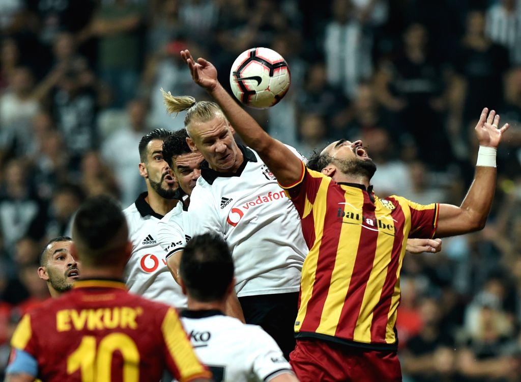 ISTANBUL, Sept. 16, 2018 - Domagoj Vida (2nd R) of Besiktas competes during 2018-2019 Turkish Super League match between Besiktas and EY Malatyaspor in Istanbul, Turkey, on Sept. 15, 2018. Besiktas ...