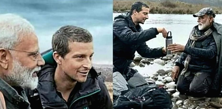 """It was Bear Grylls with whom India's Prime Minister Narendra Modi unleashed his adventurous side on the former's TV show """"Man vs Wild"""" last year. For Grylls, it was no less than a special experience to come to India and explore its beauty with Modi.  - Narendra Modi"""