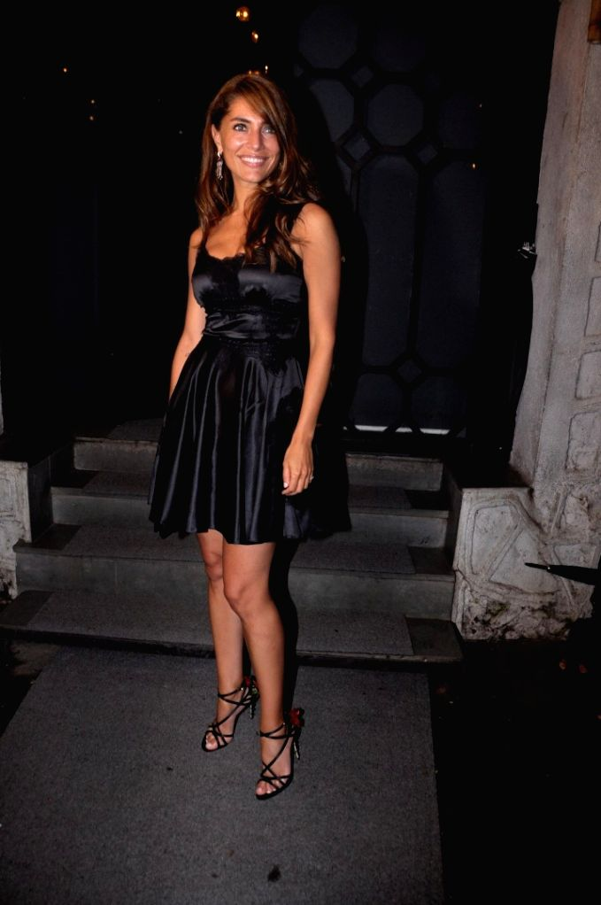 Italian actor Caterina Murino during the film Fever party in Mumbai on July 26, 2016. - Caterina Murino