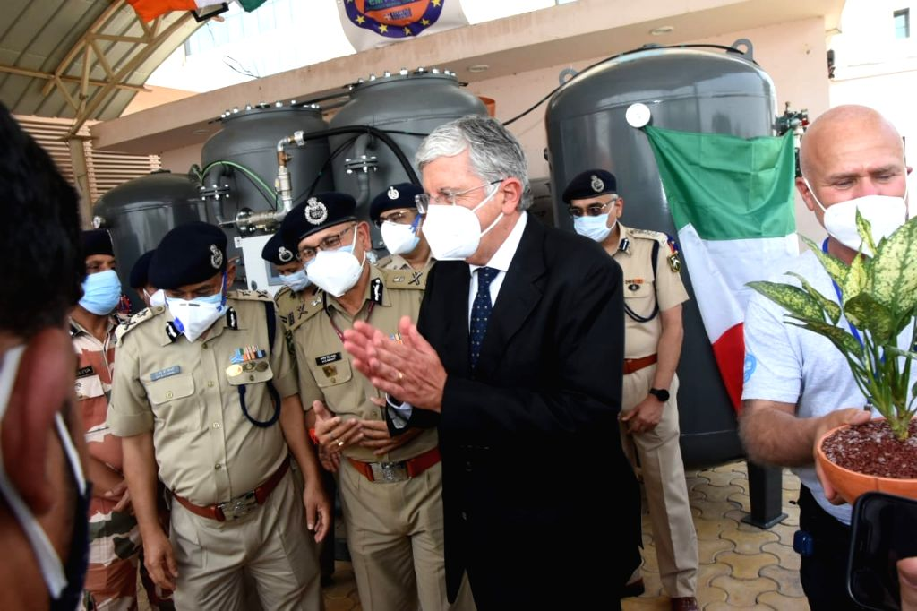 Italian envoy switches on oxygen plant at ITBP hospital in Greater Noida