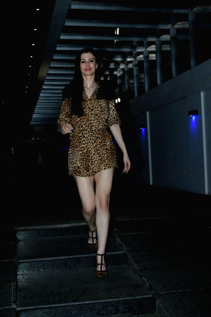 Italian model Giorgia Andriani, girlfriend of actor Arbaaz Khan, at her birthday celebrations, in Mumbai, on May 20, 2019. - Giorgia Andriani and Arbaaz Khan