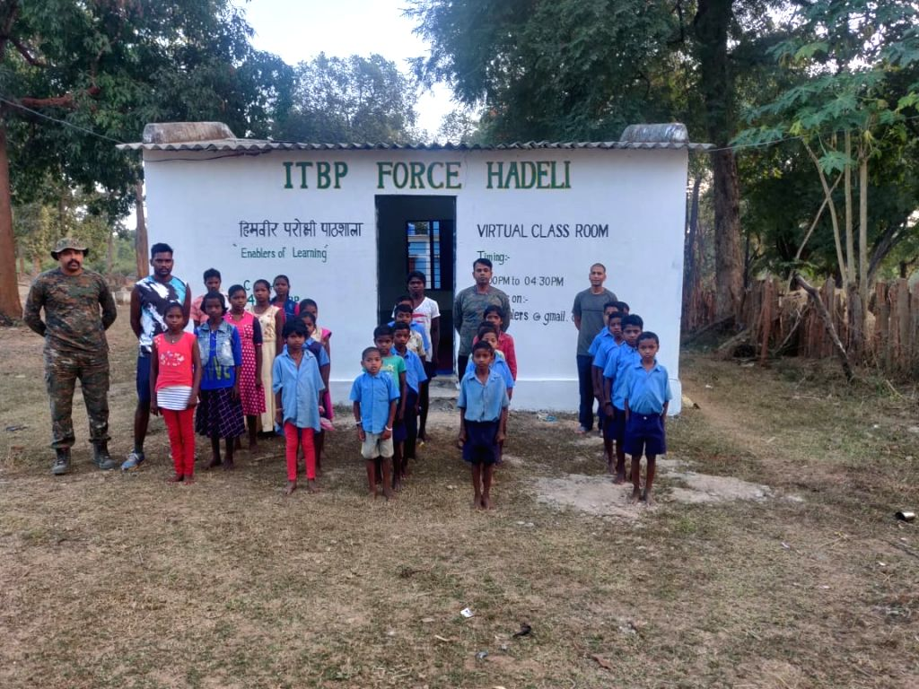 ITBP's role in Chhattishgarh; teacher in 'smart' class, student for Halbi.