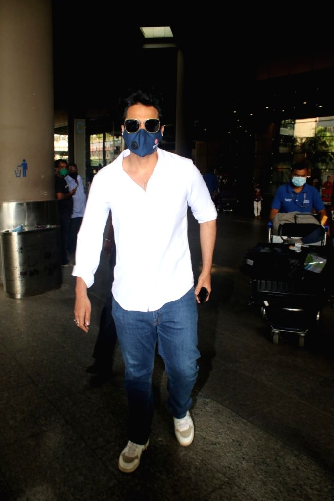 Jackky Bhagnani Spotted At Airport Arrival,Tuesday April 13th, 2021.