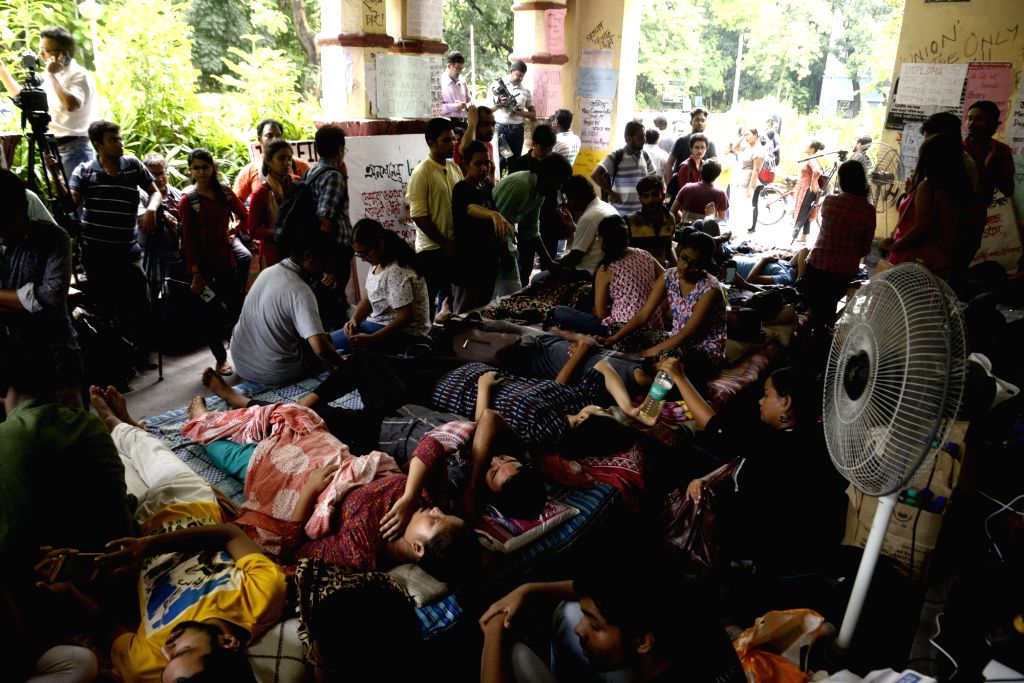 Jadavpur University students go on indefinite hunger strike to protest against university authorities' decision to do away with the decades-old system of holding entrance tests for admission ...