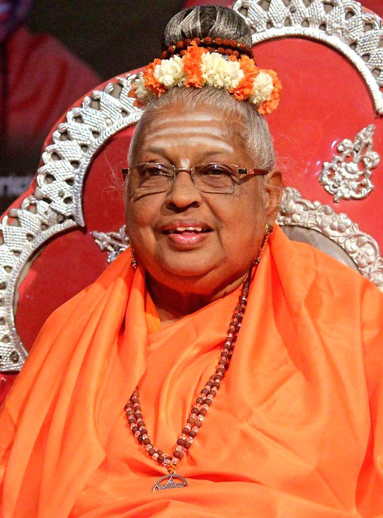 Jagadguru Mate Mahadevi of Basava Dharma Peetha, who passed away at a private hospital in Bengaluru, on March 14, 2019. (File Photo: IANS)