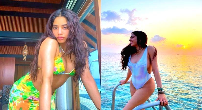 Jahnvi Kapoor's summer beach glam. - Jahnvi Kapoor