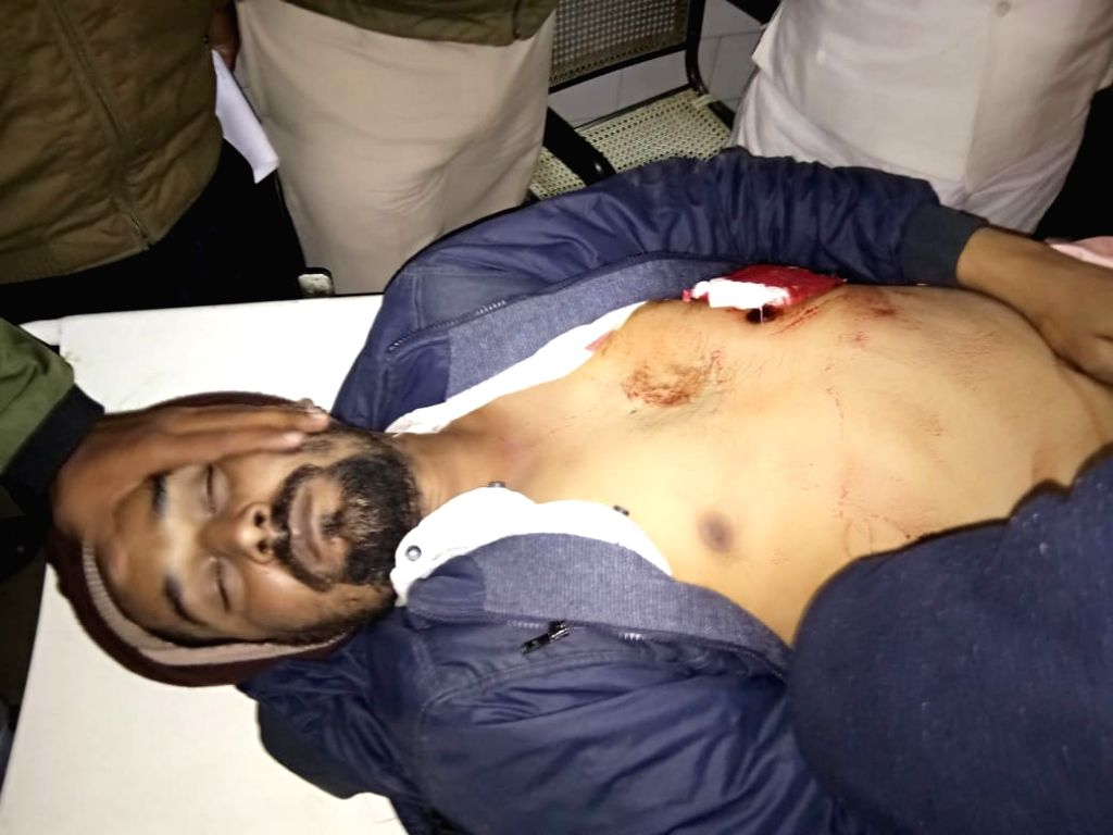 Jailed former Rashtriya Janata Dal MP Mohammad Shahabuddin's nephew Mohammad Yusuf seen shot dead at Pratappur village, in Bihar's Siwan district, on Feb 2, 2019. He was shot dead in Pratappur ...