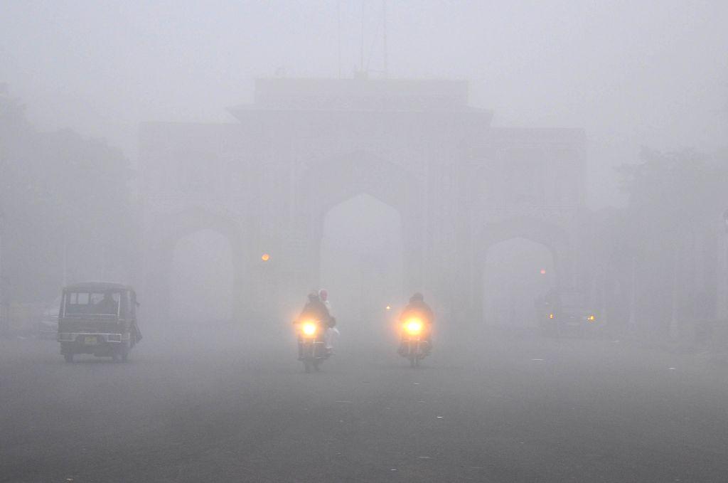 Jaipur: A dense fog covers Jaipur. (Photo: Ravi Shankar Vyas/IANS)