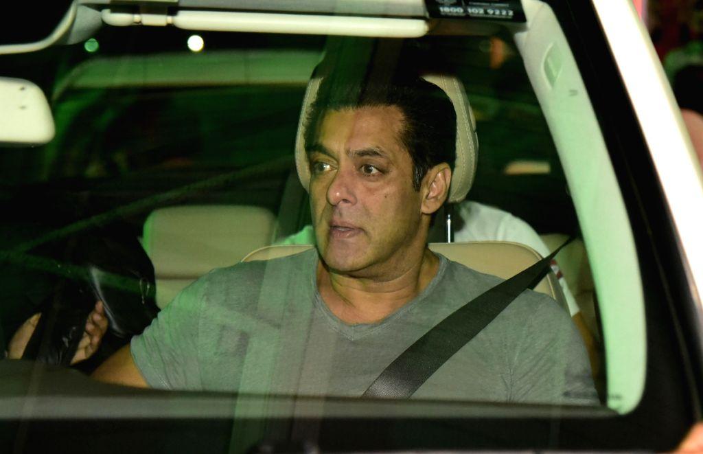 Jaipur: Actor Salman Khan arrives in Jaipur on Aug 14, 2019. (Photo: Ravi Shankar Vyas/IANS) - Salman Khan