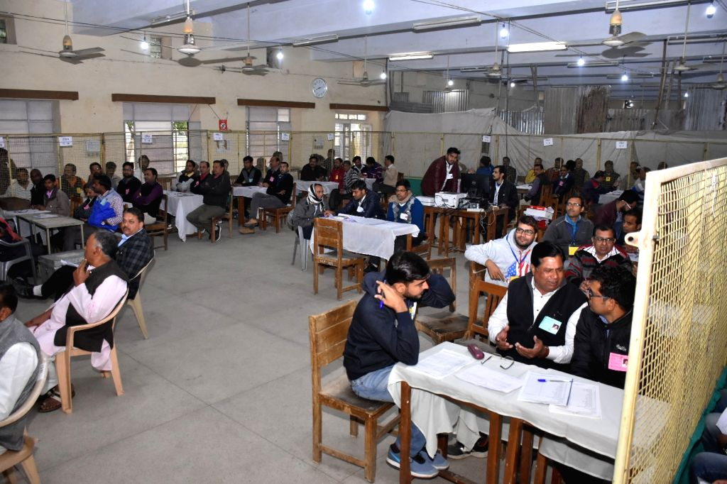 :Jaipur: Counting of votes started at different centers for Rajasthan assembly election in Jaipur on December 11, 2018. (Photo: IANS).