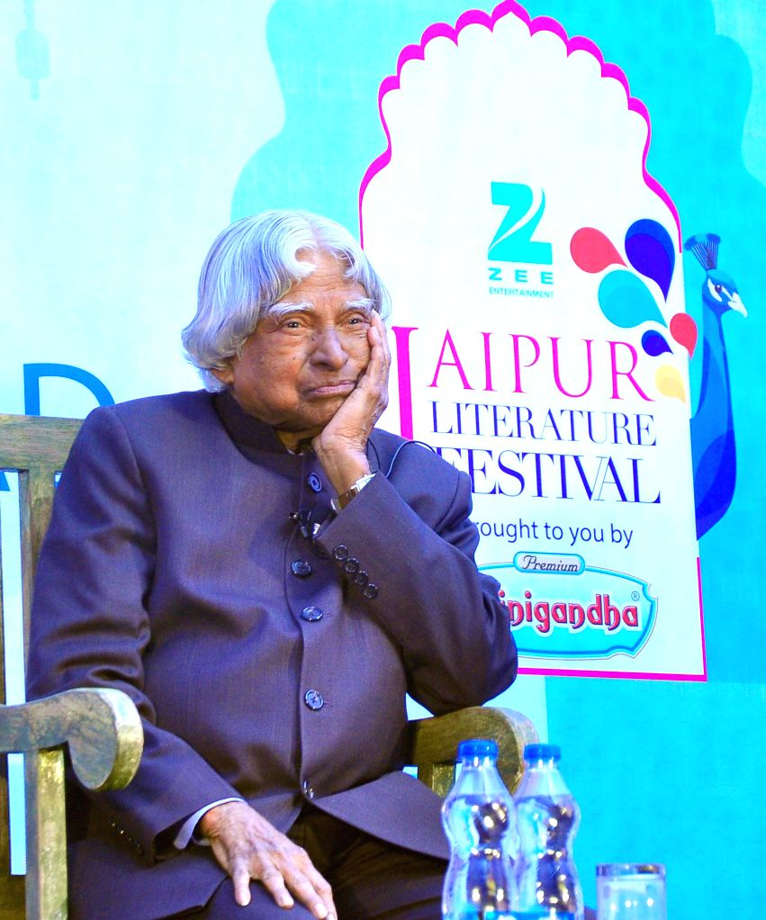 Former President APJ Abdul Kalam at Jaipur Literature Festival in Jaipur on Jan. 24, 2015.