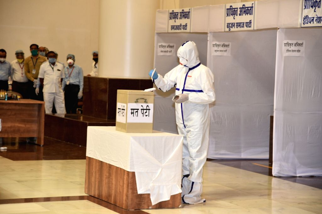 Jaipur, June 19 (IANS) It was an unusual sight in the Rajasthan Assembly on Friday when ex-BSP MLA Wajib Ali who joined the Congress last year, entered the Assembly wearing a PPE kit to cast his vote for the Rajya Sabha polls, after he returned from
