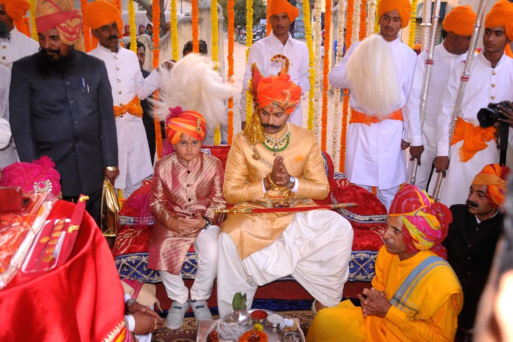 Kunwar Karni Singh Sodha of Amarkot district at Sindh in Pakistan tied the knot with Padmini Rathore of Kanota royal family during the wedding ceremony at Narain Niwas in Jaipur on Feb 21, ...