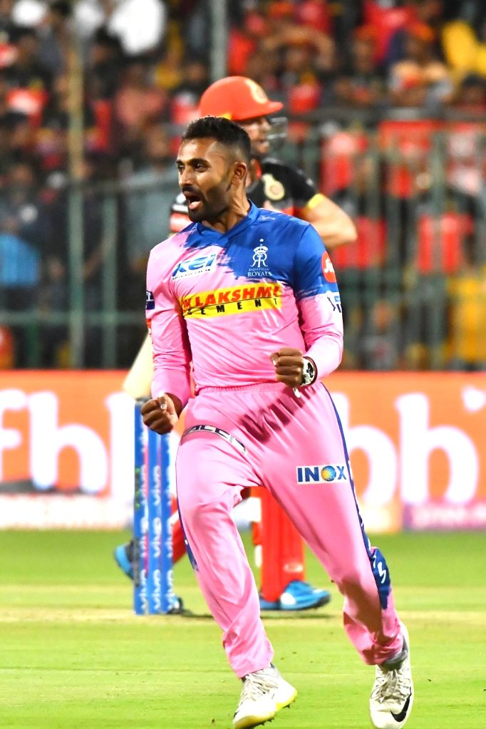 Jaipur, March 31 (IANS) Rajasthan Royals' bowling all-rounder Shreyas Gopal on Tuesday said he does harbour ambitions of playing for India someday but is not putting too much pressure on himself by thinking about it all the time.	(File Photo: IANS)