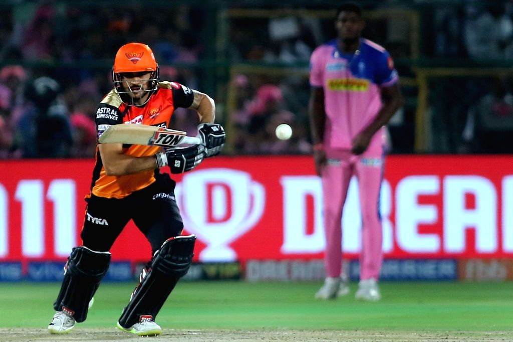 Jaipur: Sunrisers Hyderabad's Manish Pandey in action during the 45th match of IPL 2019 between Rajasthan Royals and Sunrisers Hyderabad at Sawai Mansingh Stadium in Jaipur, on April 27, 2019. (Photo: IANS) - Manish Pandey