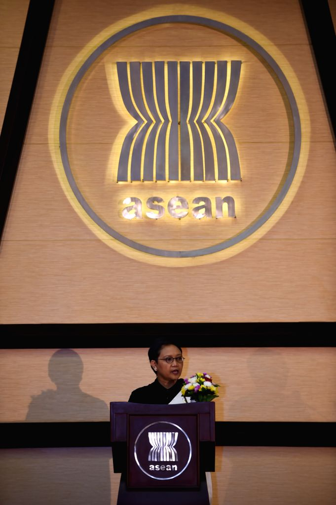 JAKARTA, Aug. 15, 2016 - Indonesian Foreign Minister Retno Marsudi addresses a ceremony celebrating the 49th Association of Southeast Asian Nations (ASEAN) Day at ASEAN Secretariat in Jakarta, ... - Retno Marsudi