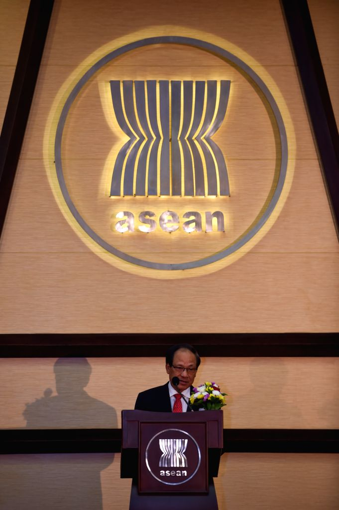 JAKARTA, Aug. 15, 2016 - Secretary-General of the Association of Southeast Asian Nations (ASEAN) Le Luong Minh addresses a ceremony celebrating the 49th anniversary of ASEAN Day in Jakarta, capital ...