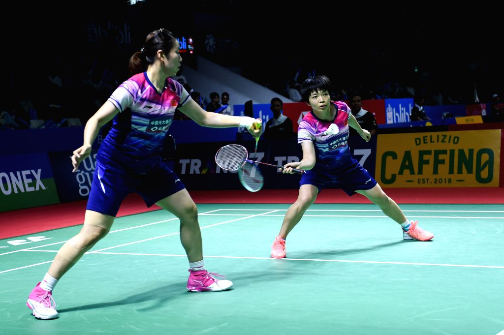 JAKARTA, July 17, 2019 - Chen Qingchen (R)/Jia Yifan of China compete during the women's doubles first round match against Metya Inayah Cindiani/Vania Arianti Sukoco of Indonesia at the Indonesia ...